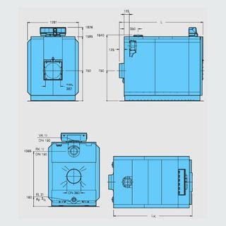 Logano GE615 1200кВт отдельными секциями